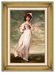 Thomas Lawrence Pinkie canvas with gallery gold wood frame