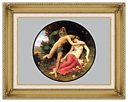 William Bouguereau Flora And Zephyr canvas with gallery gold wood frame
