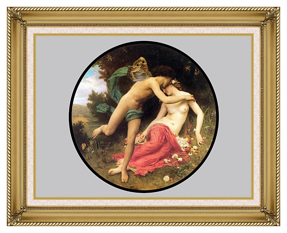 William Bouguereau Flora and Zephyr with Gallery Gold Frame w/Liner
