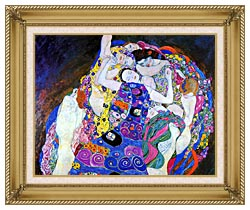 Gustav Klimt The Virgin Detail canvas with gallery gold wood frame