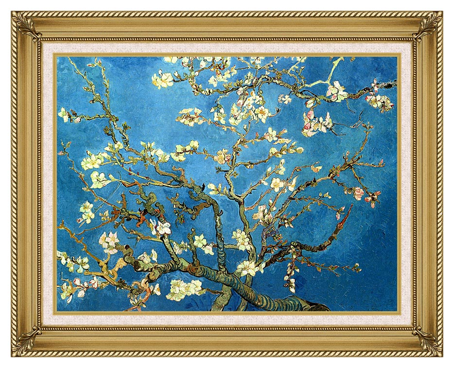 Vincent van Gogh Almond Blossom (detail) with Gallery Gold Frame w/Liner