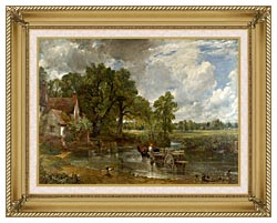 John Constable The Hay Wain canvas with gallery gold wood frame
