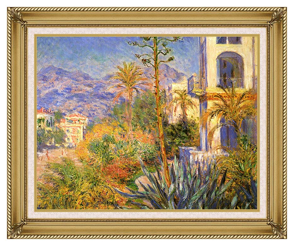 Claude Monet Villas at Bordighera with Gallery Gold Frame w/Liner