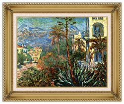 Claude Monet The Villas At Bordighera canvas with gallery gold wood frame