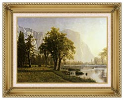 Albert Bierstadt El Capitan Yosemite Valley California canvas with gallery gold wood frame