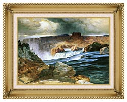 Thomas Moran Shoshone Falls Snake River Idaho canvas with gallery gold wood frame