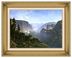 Thomas Hill Yosemite Valley canvas with gallery gold wood frame