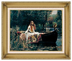 John William Waterhouse The Lady Of Shalott canvas with gallery gold wood frame