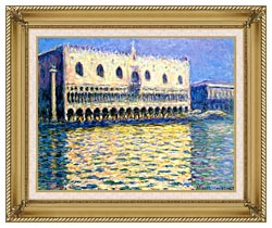 Claude Monet Palazzo Ducale canvas with gallery gold wood frame