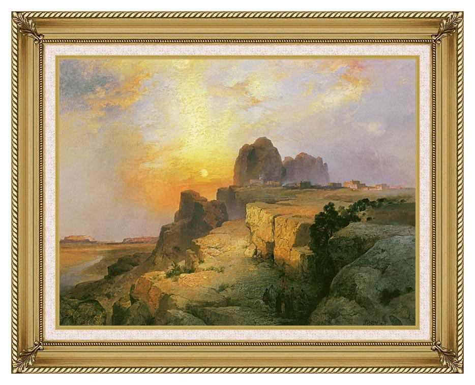 Thomas Moran Hopi Village, Arizona with Gallery Gold Frame w/Liner