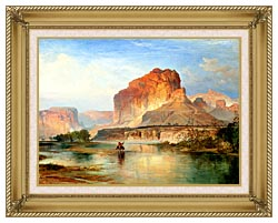 Thomas Moran Cliffs Of Green River 1874 Detail canvas with gallery gold wood frame