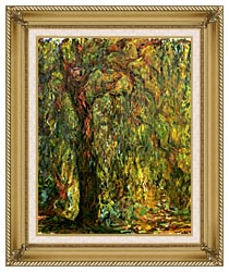 Claude Monet Weeping Willow 1919 Detail canvas with gallery gold wood frame