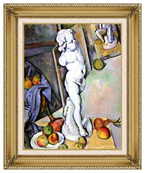 Paul Cezanne Still Life With Plaster Cast canvas with gallery gold wood frame