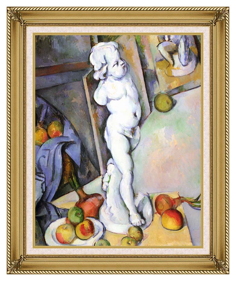 Paul Cezanne Still Life with Plaster Cast with Gallery Gold Frame w/Liner