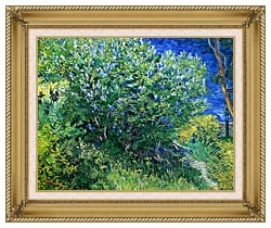 Vincent Van Gogh Lilacs canvas with gallery gold wood frame