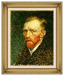 Vincent Van Gogh Self Portrait canvas with gallery gold wood frame