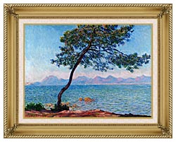 Claude Monet Antibes canvas with gallery gold wood frame