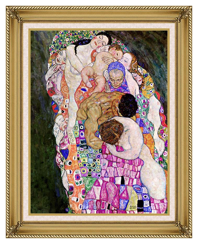Gustav Klimt Death and Life (Life detail) with Gallery Gold Frame w/Liner