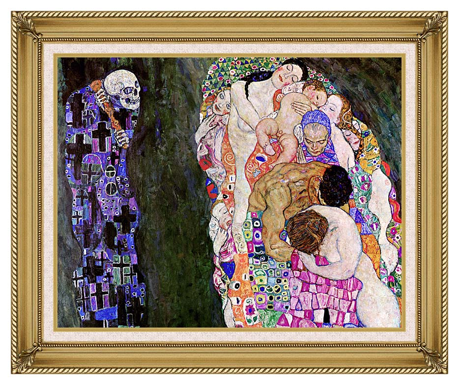 Gustav Klimt Death and Life (detail) with Gallery Gold Frame w/Liner