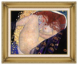 Gustav Klimt Danae Detail canvas with gallery gold wood frame