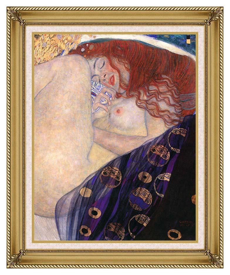 Gustav Klimt Danae 1907-8 (detail) with Gallery Gold Frame w/Liner