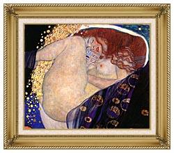 Gustav Klimt Danae canvas with gallery gold wood frame