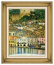 Gustav Klimt Malcesine On Lake Garda Detail canvas with gallery gold wood frame