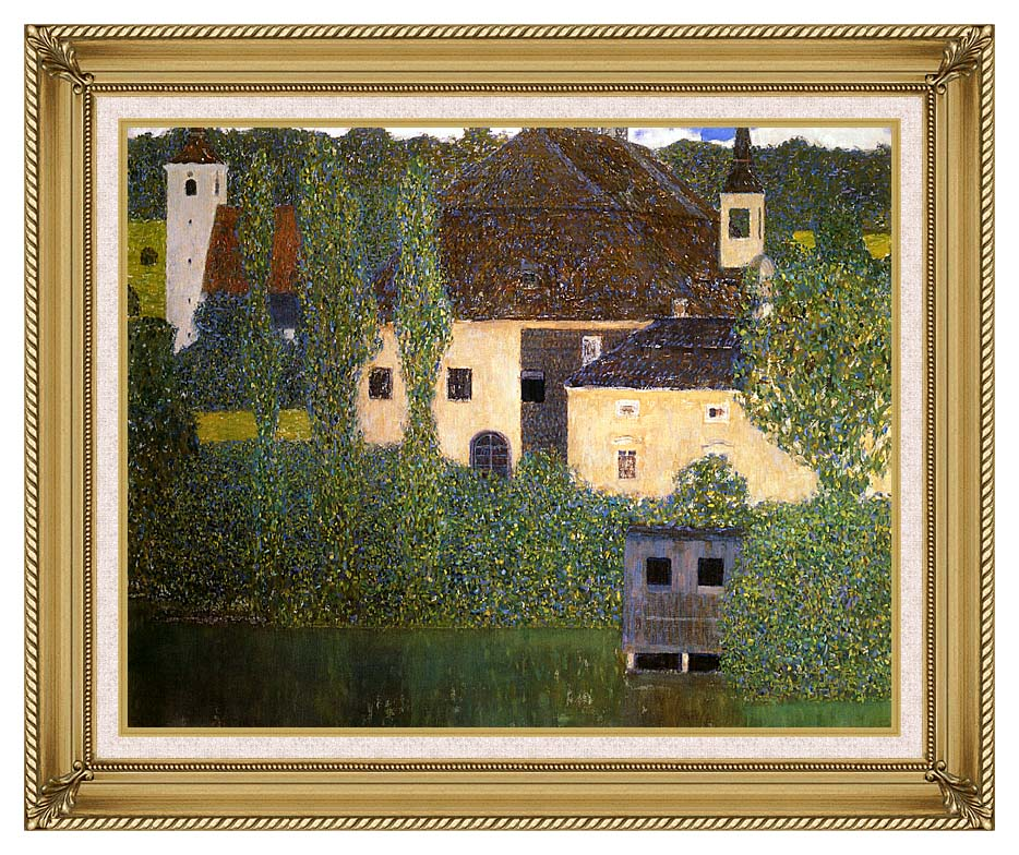 Gustav Klimt Schloss Kammer on the Attersee I (detail) with Gallery Gold Frame w/Liner