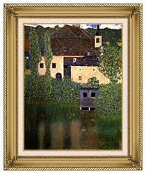 Gustav Klimt Schloss Kammer On The Attersee I Portrait Detail canvas with gallery gold wood frame