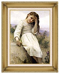 William Bouguereau Little Thief canvas with gallery gold wood frame