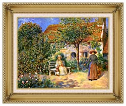 Pierre Auguste Renoir Garden Scene In Brittany canvas with gallery gold wood frame