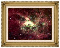 Courtesy Nasa Jpl Caltech 30 Doradus Newborn Stars Of Tarantula Nebula canvas with gallery gold wood frame