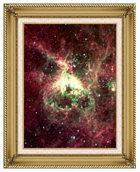 Courtesy Nasa Jpl Caltech 30 Doradus Newborn Stars Of Tarantula Nebula Portrait Detail canvas with gallery gold wood frame
