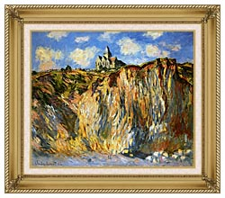 Claude Monet The Church At Varengeville Morning Effect canvas with gallery gold wood frame