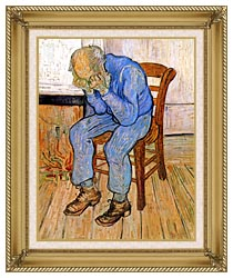 Vincent Van Gogh Old Man In Sorrow canvas with gallery gold wood frame