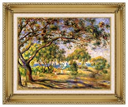 Pierre Auguste Renoir Noirmoutiers canvas with gallery gold wood frame