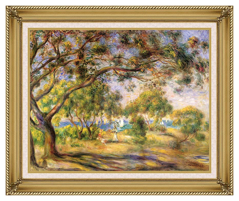 Pierre Auguste Renoir Noirmoutiers with Gallery Gold Frame w/Liner