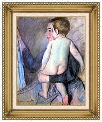 Mary Cassatt At The Window canvas with gallery gold wood frame