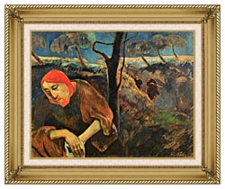 Paul Gauguin Christ In The Garden Of Olives canvas with gallery gold wood frame