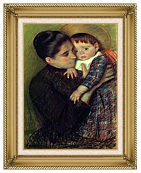 Mary Cassatt Helene De Septeuil canvas with gallery gold wood frame