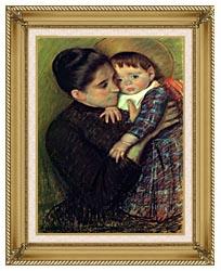 Mary Cassatt Helene De Septeuil canvas with gallery gold wood frame