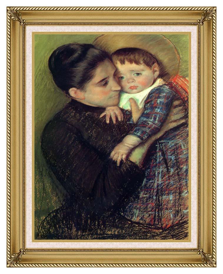 Mary Cassatt Helene de Septeuil with Gallery Gold Frame w/Liner