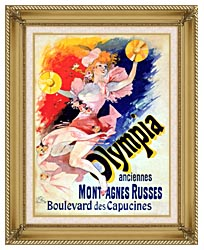 Jules Cheret Olympia canvas with gallery gold wood frame