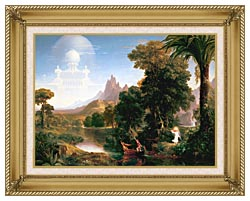 Thomas Cole The Voyage Of Life Youth canvas with gallery gold wood frame