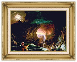 Thomas Cole The Voyage Of Life Manhood canvas with gallery gold wood frame