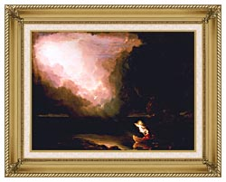 Thomas Cole The Voyage Of Life Old Age canvas with gallery gold wood frame