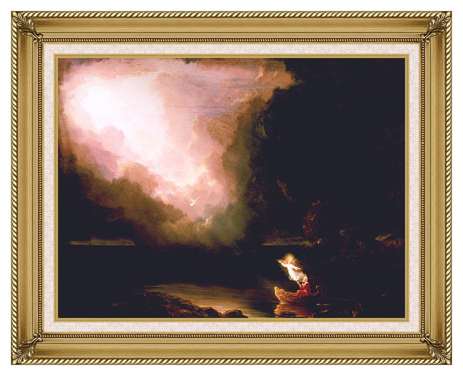 Thomas Cole The Voyage of Life: Old Age with Gallery Gold Frame w/Liner