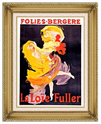 Jules Cheret Folies Bergere La Loie Fuller canvas with gallery gold wood frame