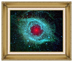 Courtesy Nasa Jpl Caltech Comets Kick Up Dust In Helix Nebula canvas with gallery gold wood frame