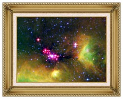 Courtesy Nasa Jpl Caltech Stars In Serpens canvas with gallery gold wood frame